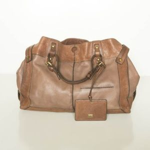 Kooba chestnut leather 'Jackson' satchel